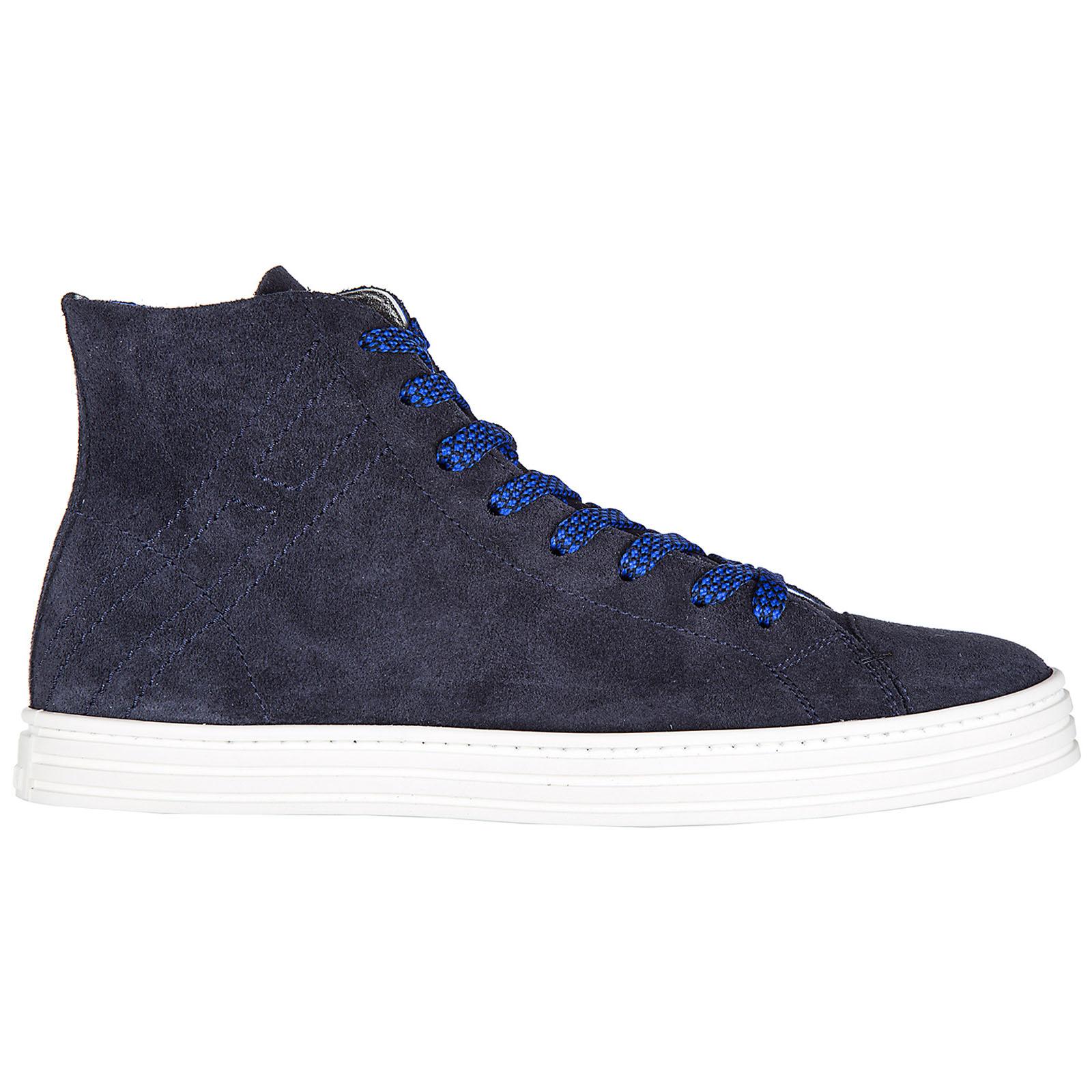 Scarpe sneakers alte uomo in camoscio r141 hi top