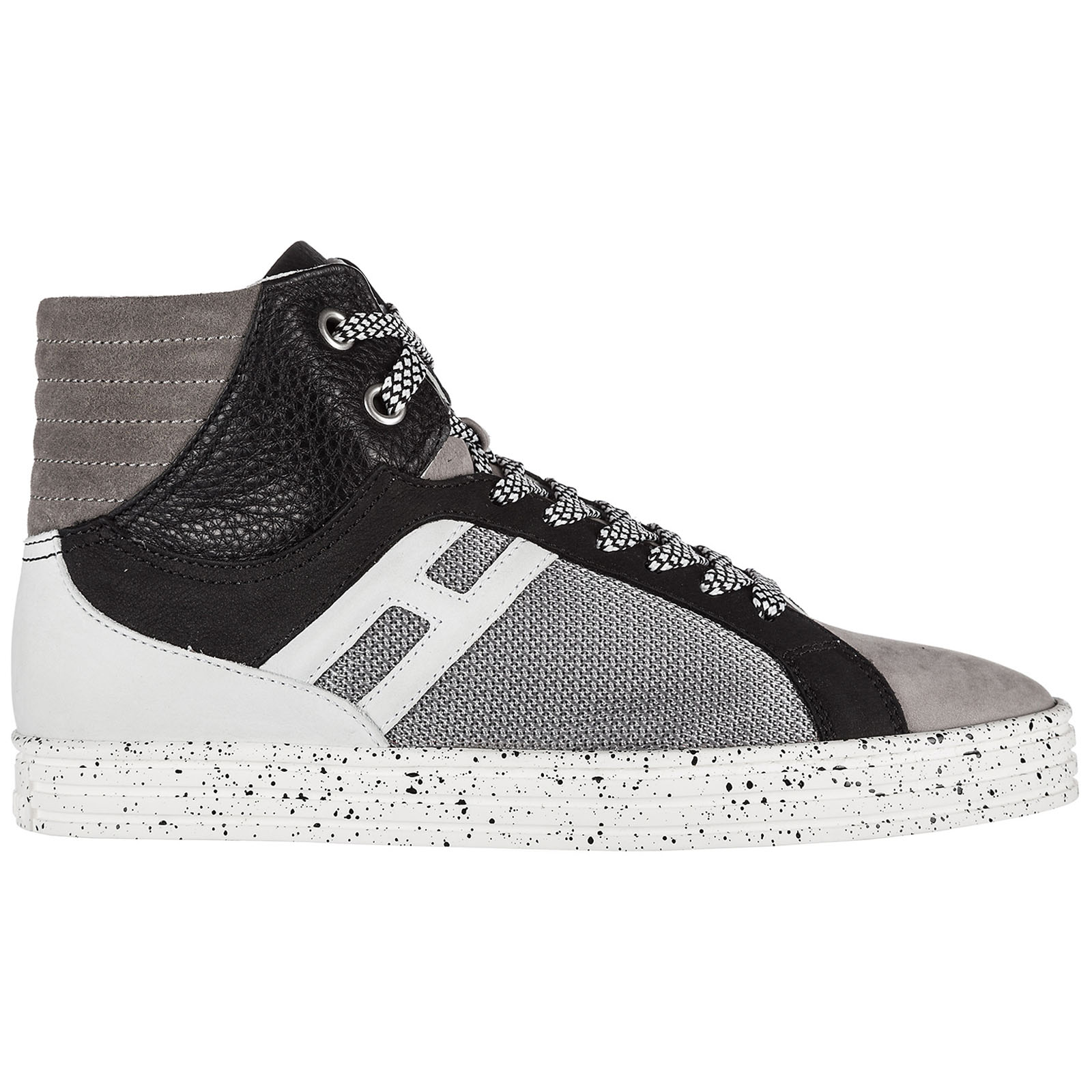 Scarpe sneakers alte uomo in camoscio rebel r141 basket