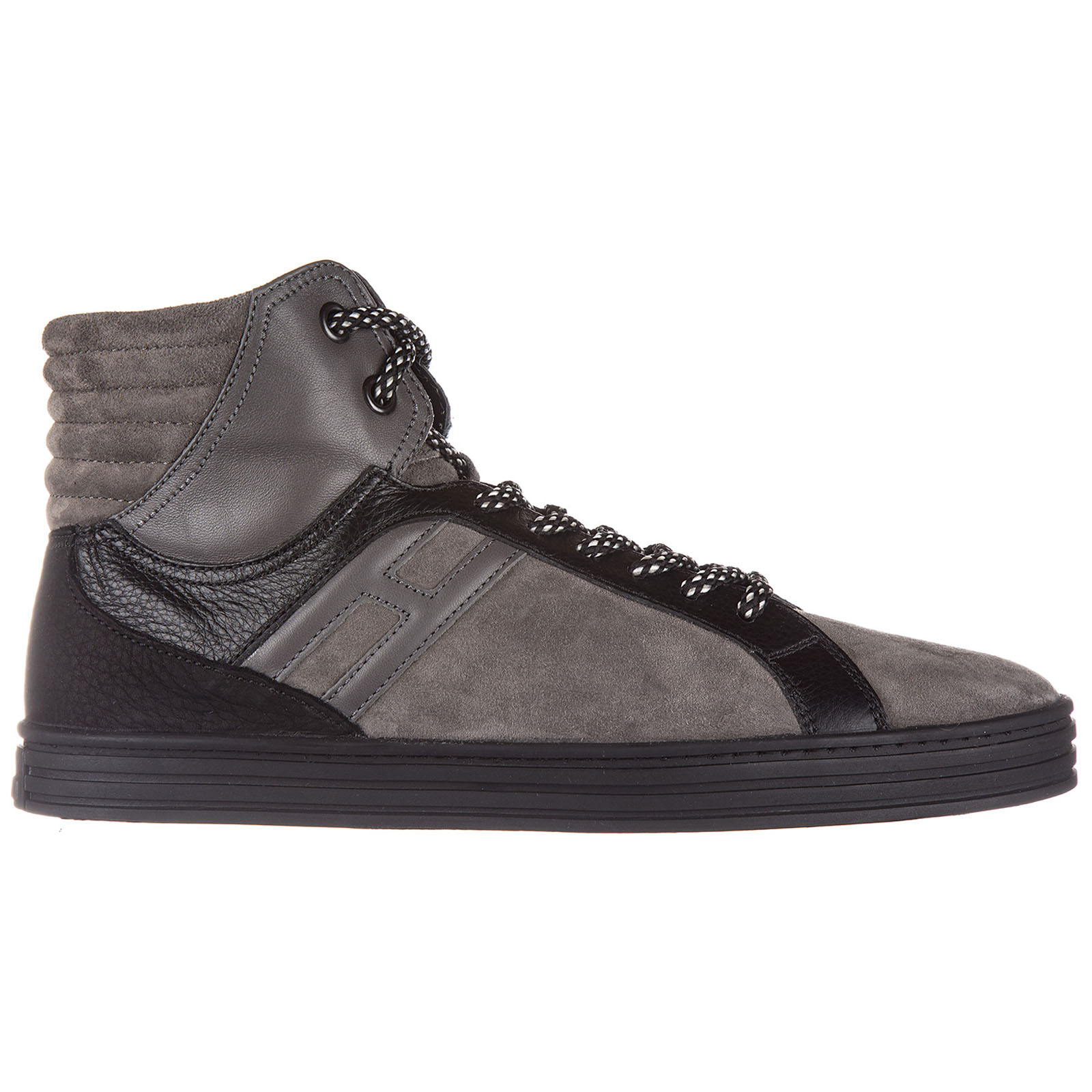 Scarpe sneakers alte uomo in camoscio r141 basket