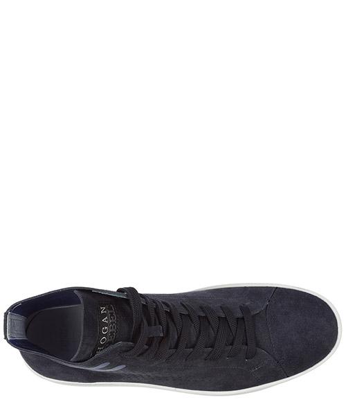 Scarpe sneakers alte uomo in camoscio  r141 secondary image