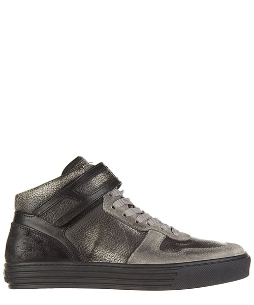 Zapatillas altas Hogan Rebel HXM2060O5506Z5014D grigio