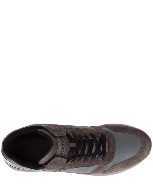 Scarpe sneakers uomo camoscio r218 mid secondary image