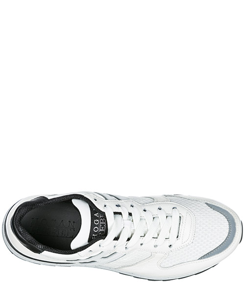 Men's shoes leather trainers sneakers r261 secondary image