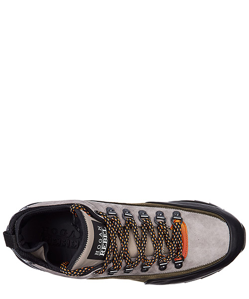 Men's shoes leather trainers sneakers r261 allacciato ganci secondary image