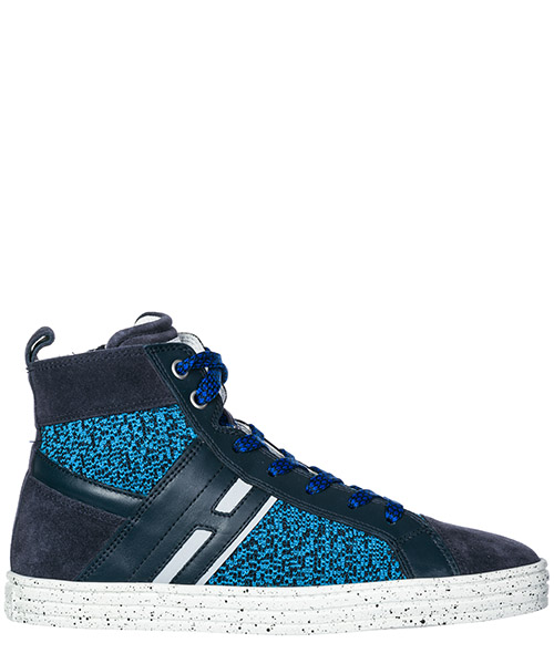 High top sneakers Hogan Rebel R141 HXR1410U770FUV0XTU blu