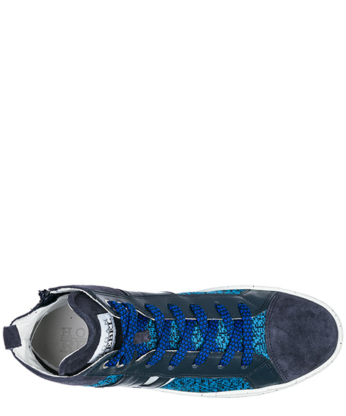 Scarpe sneakers bambino alte pelle r141 secondary image