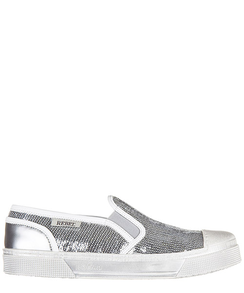 Slip on shoes Hogan Rebel HXR2890U290CJF0906 argento