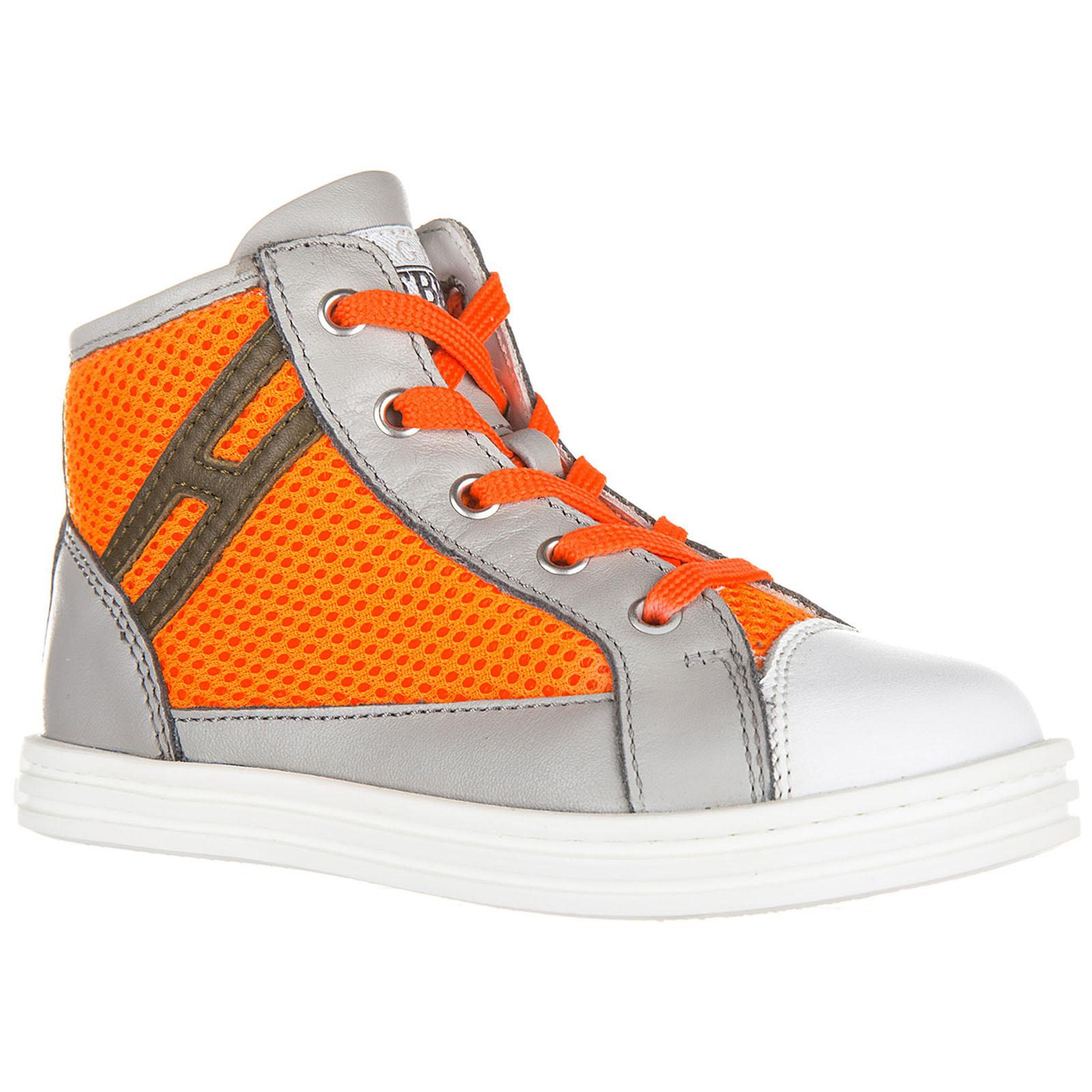 High top sneakers Hogan Rebel R141 HXT1410I390D5G0XBE grigio ... 373fc0d6fec