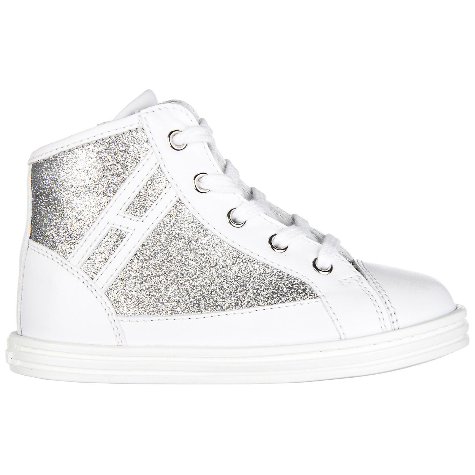 Scarpe sneakers bimba bambina alte pelle r141 polacco zip ... 862441ef909