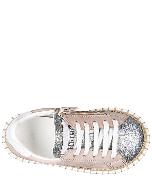 Girls shoes baby child sneakers pelle r260 allacciato zip secondary image