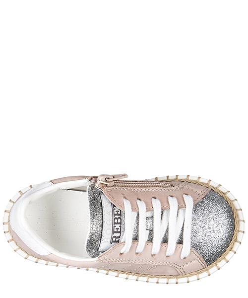 Scarpe sneakers bimba bambina pelle r260 allacciato zip secondary image