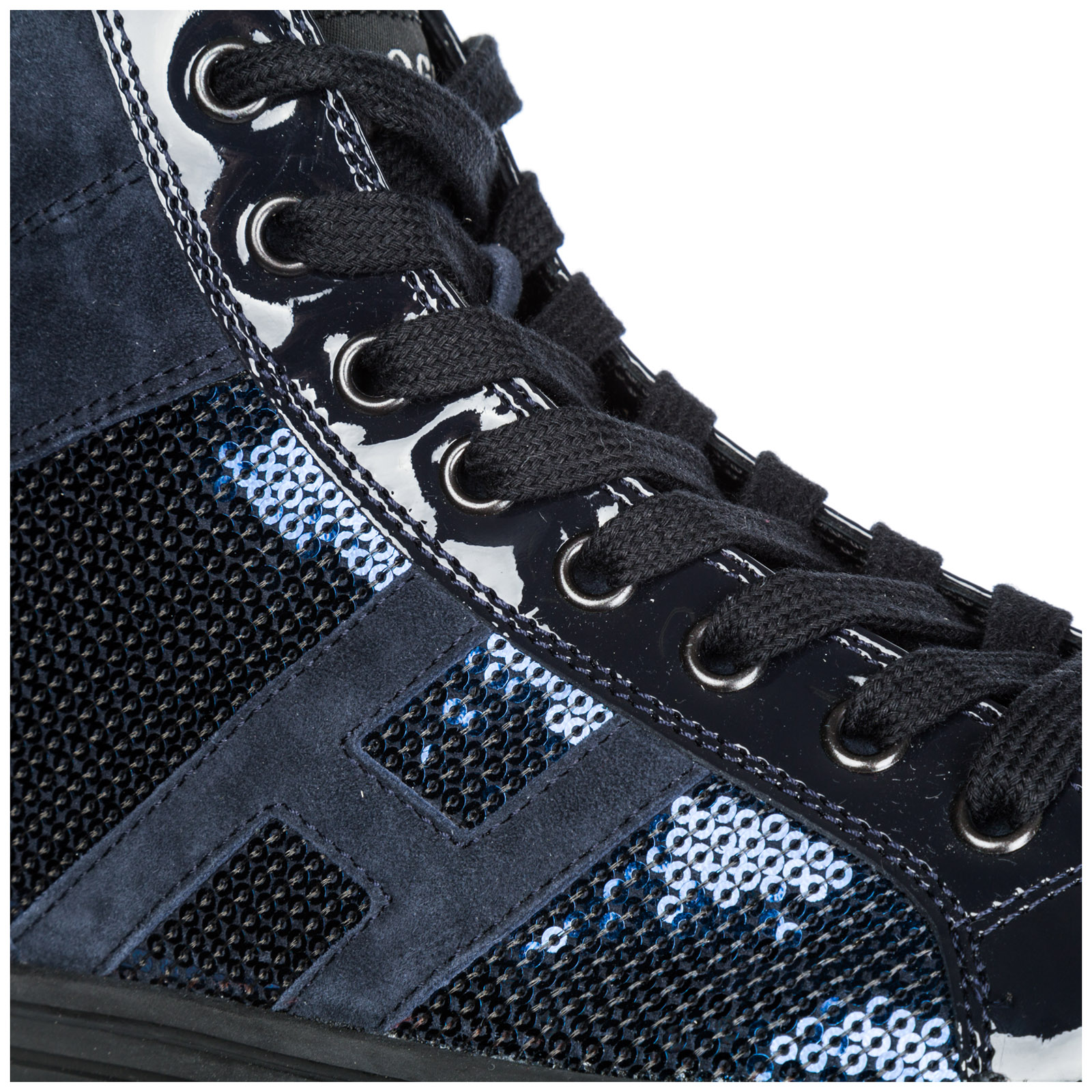 a7b55698c6bc High top sneakers Hogan Rebel R141 HXW14108014J2KU810 blu denim ...
