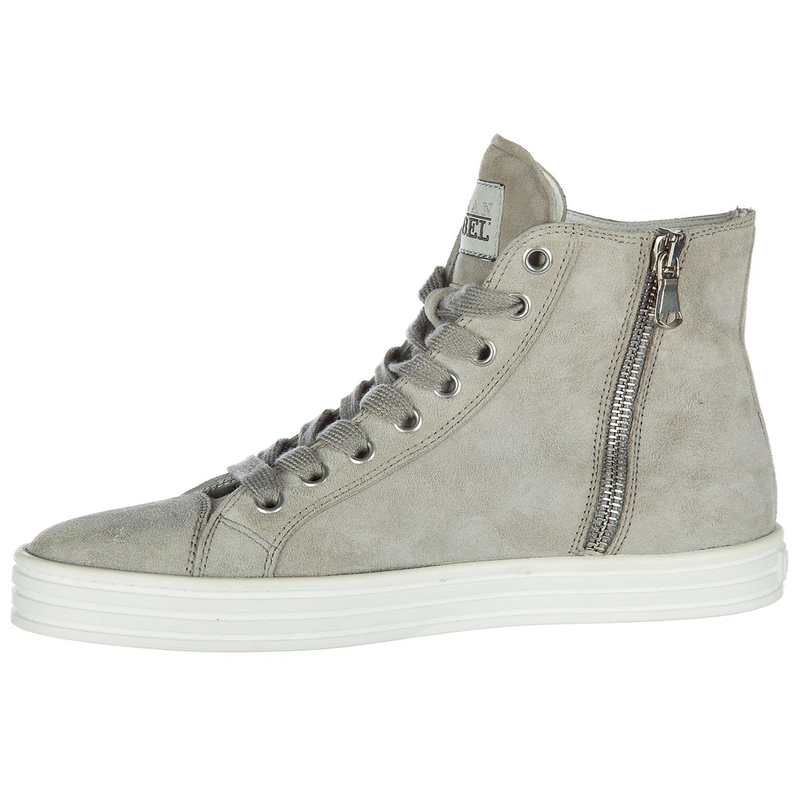 Hogan Rebel Scarpe Sneakers Alte Donna in Camoscio Nuove r141 Beige EU 35.5 HXW1410H1601SG574O B4Cm4if