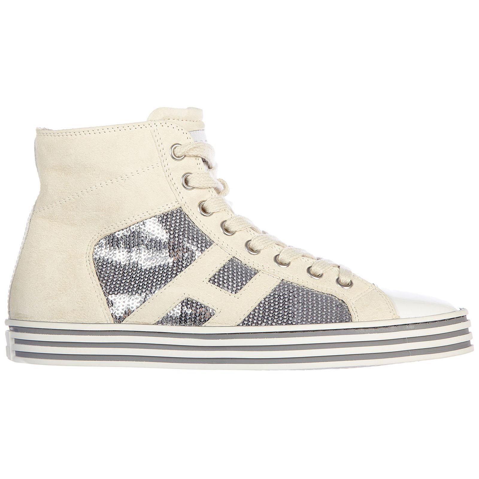 Scarpe sneakers alte donna in camoscio r141 rebel vintage