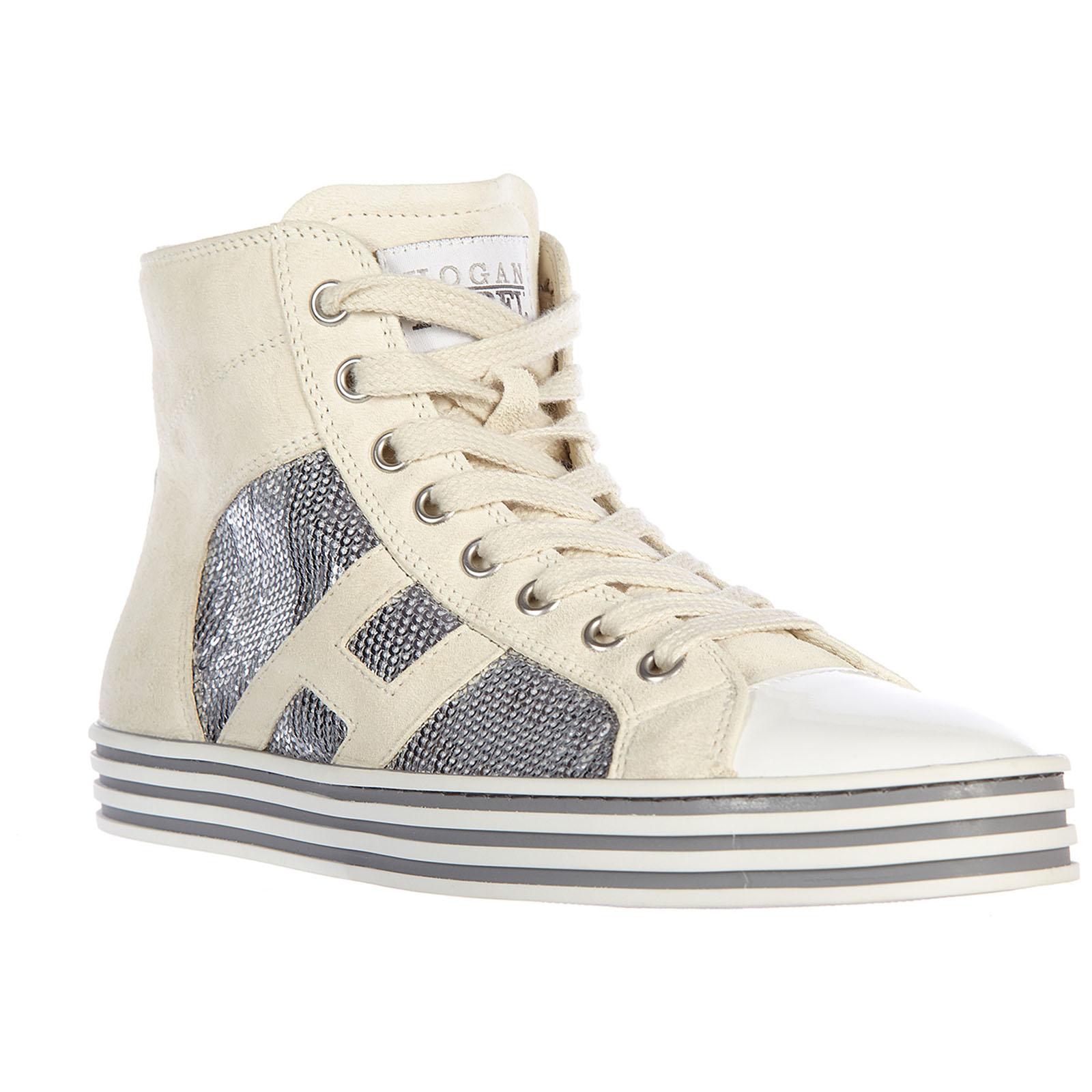 ... Scarpe sneakers alte donna in camoscio r141 rebel vintage ... a1b3c84deda