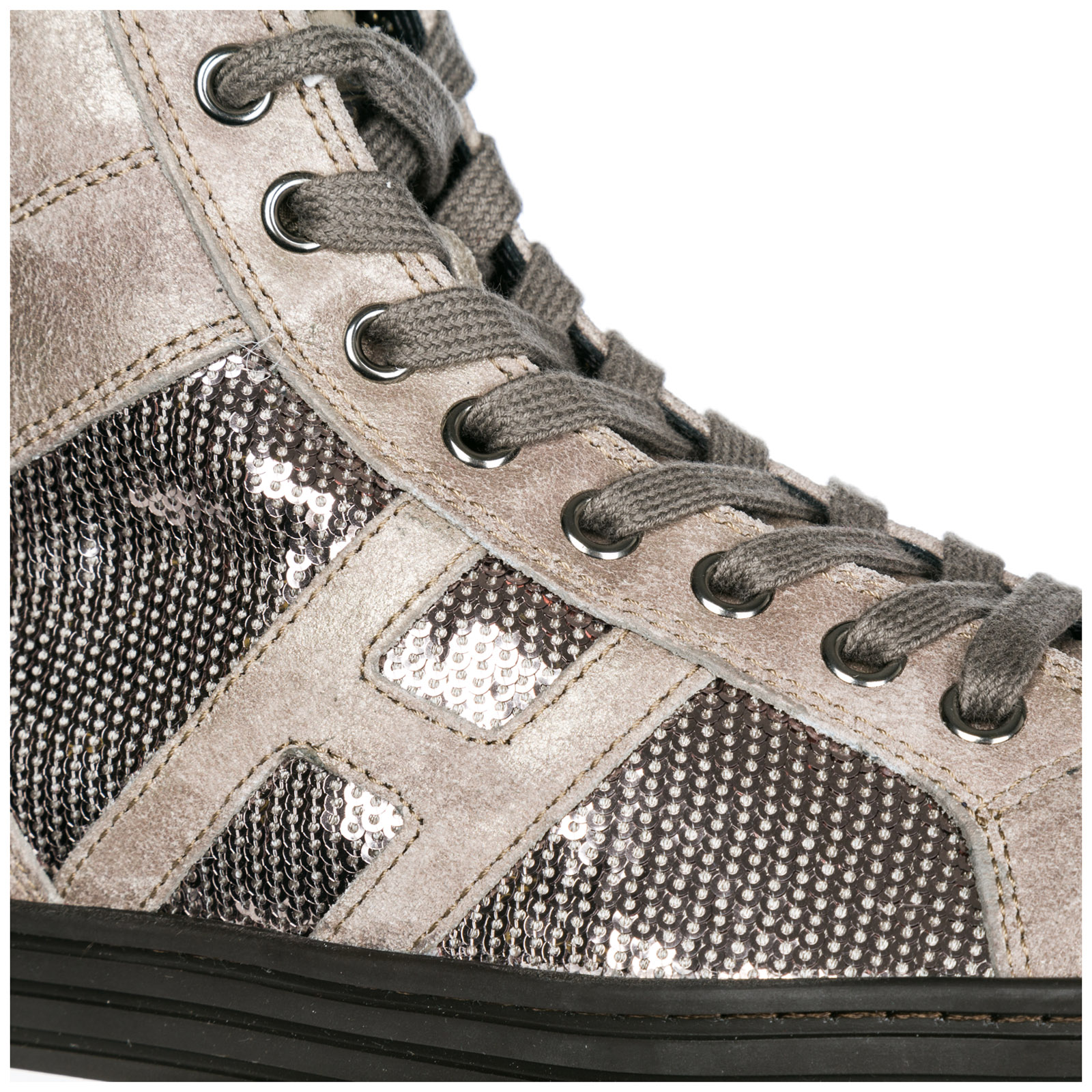 Sneakers alte Hogan Rebel R141 HXW1410P991DWE699F argilla palude ... 5cf407e6238