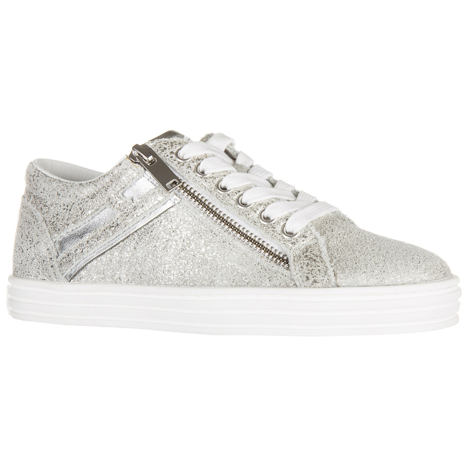 Sneakers Hogan Rebel R141 HXW1410Q450BXD0351 argento  5521b618b5f