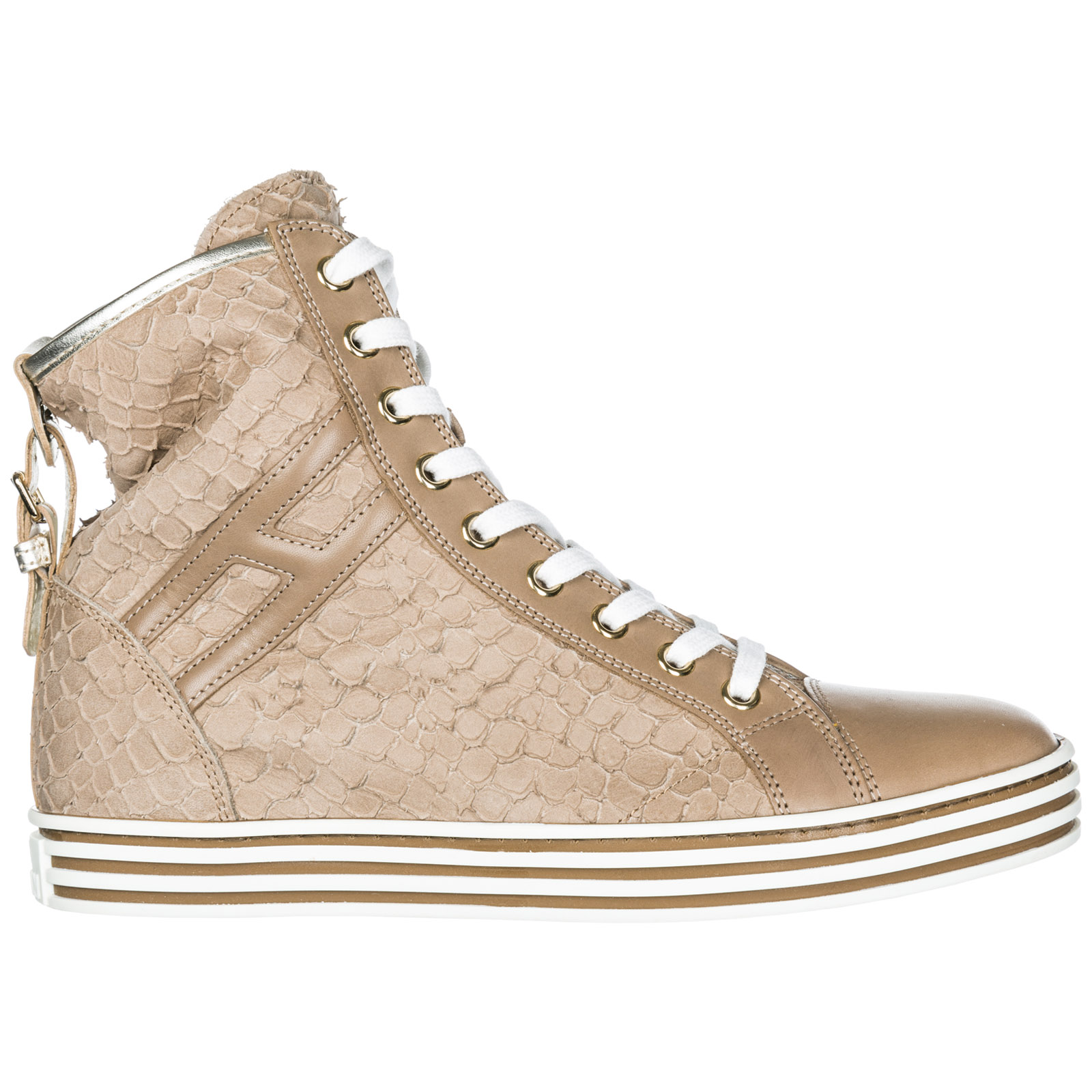 Sneakers Hogan Rebel R182 HXW1820D6608CS191Y beige  fdbfa1793f7