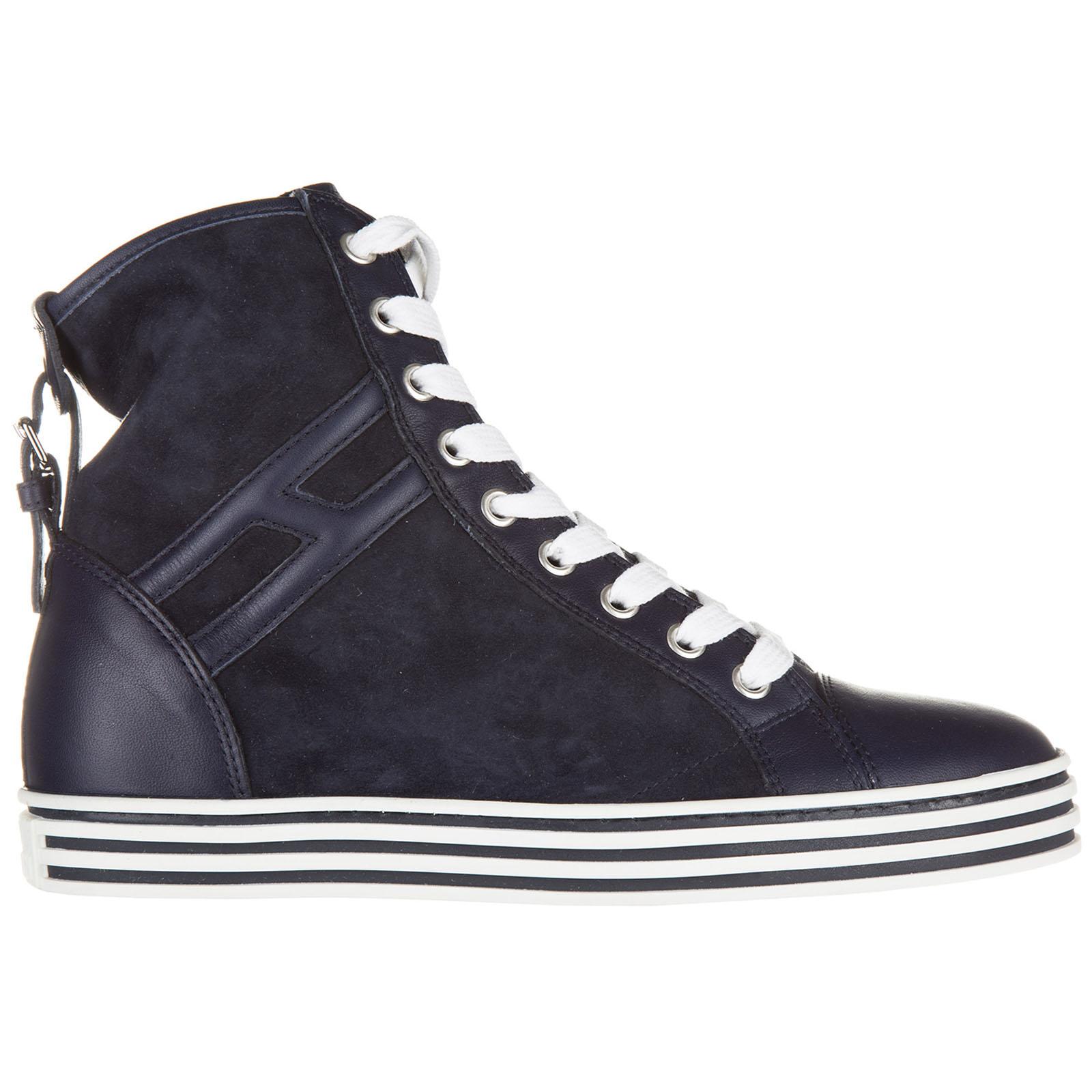 Scarpe sneakers alte donna in camoscio rebel r182 polacco con fibbia