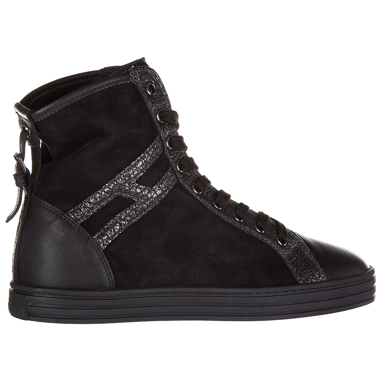 db7a7aabc1a9 Sneakers alte Hogan Rebel R182 HXW1820D661EJA0039 nero   FRMODA.com