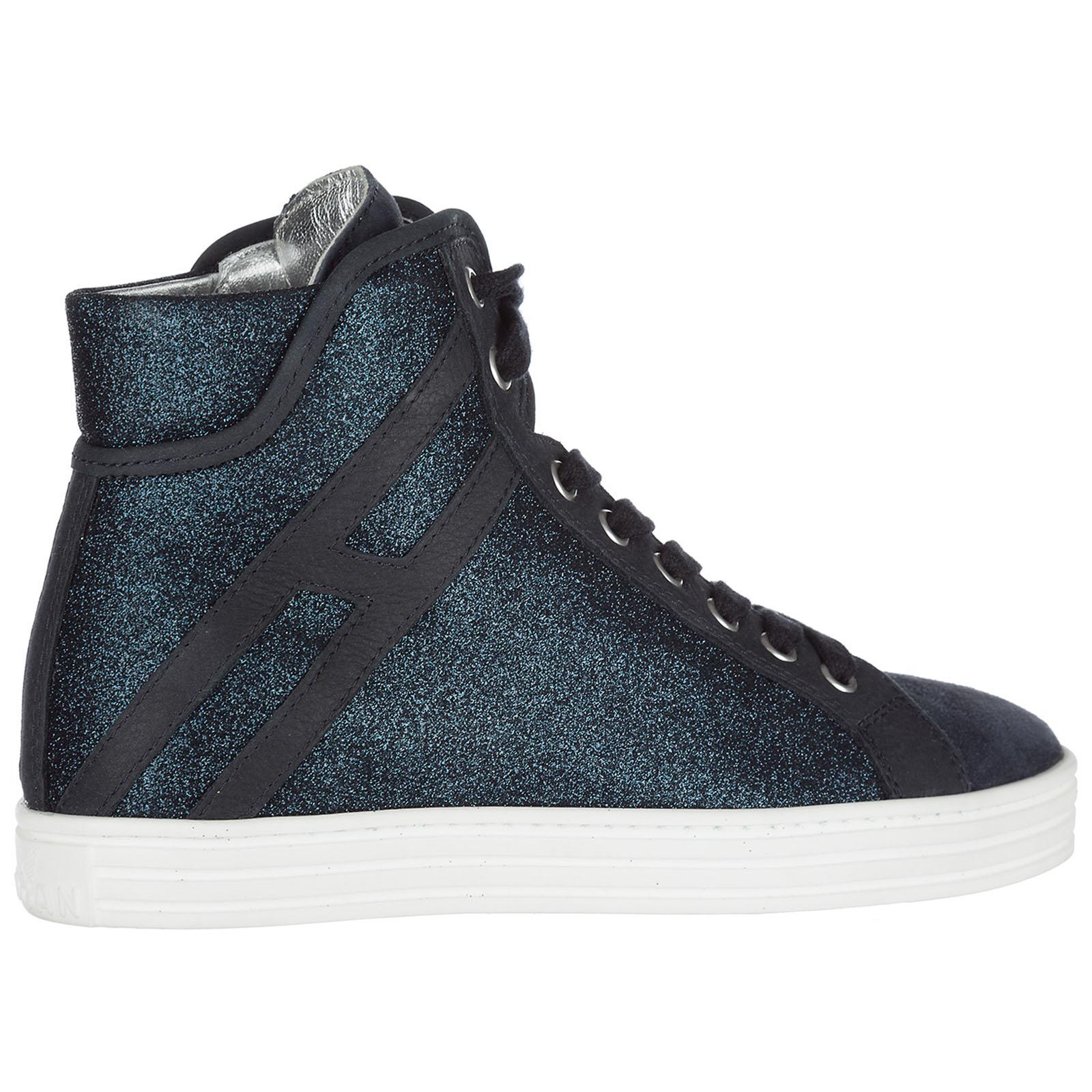 Sneakers alte Hogan Rebel R182 HXW1820I650GAQU810 blu denim  244ae6e46a0