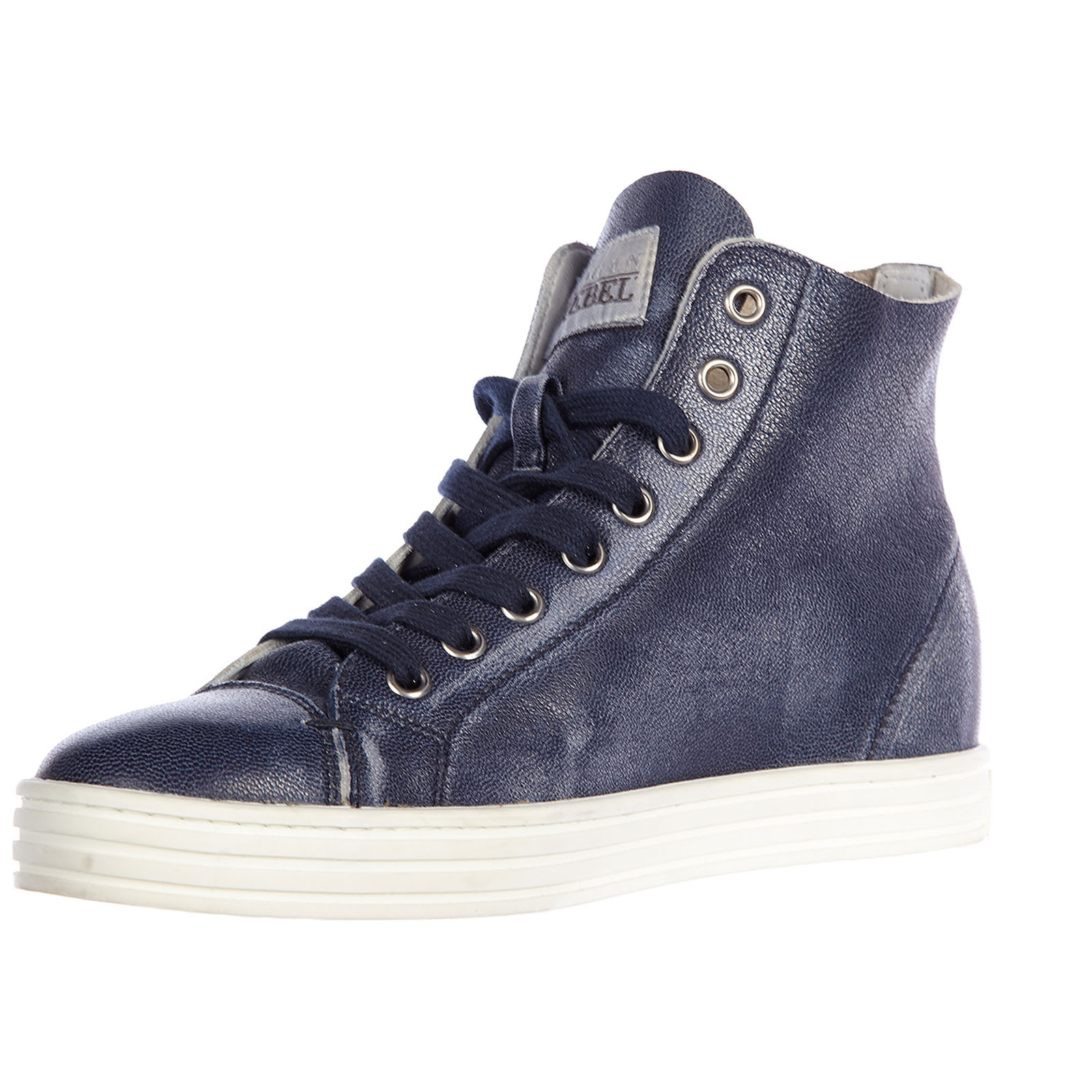 ... Women s shoes high top leather trainers sneakers r182 rebel vintage ... 7b9a0316fe4
