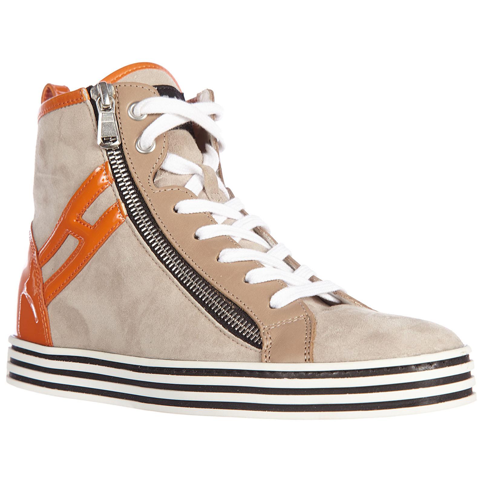 Sneakers alte Hogan Rebel R182 HXW1820Q98079N225L beige  317a1dc2b9d