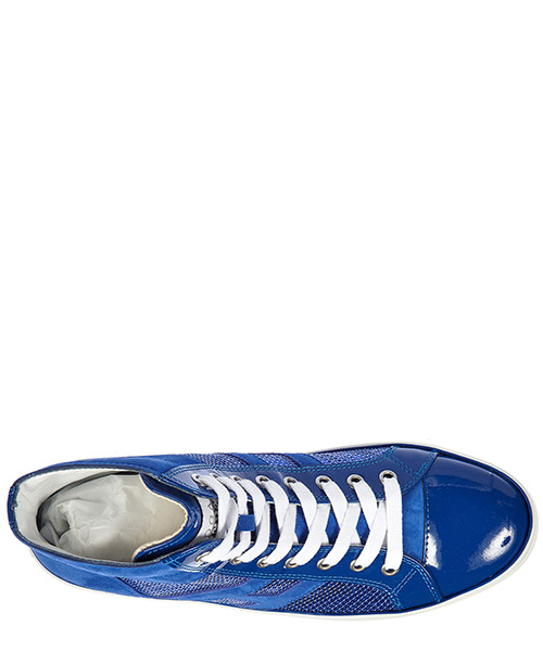 Scarpe sneakers alte donna in pelle rebel r141 laterale paillettes secondary image