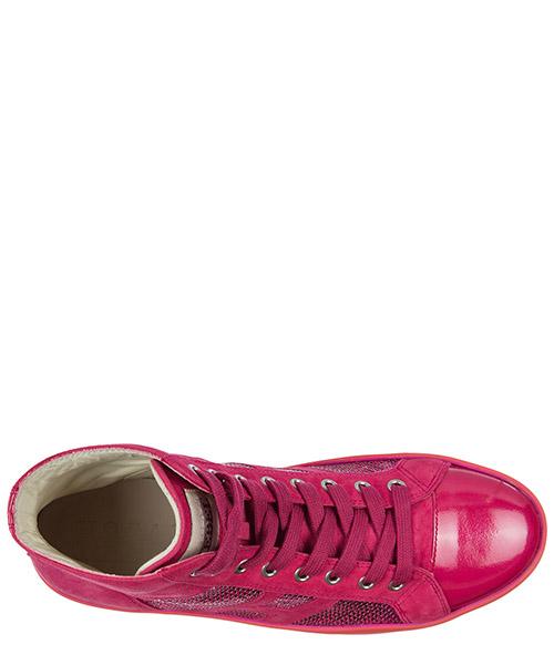 Chaussures baskets sneakers hautes femme en daim r141 secondary image