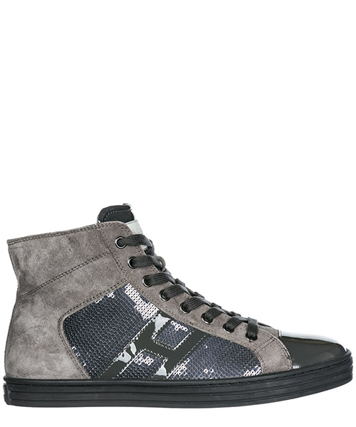 High top sneakers Hogan Rebel R141 HXW1410801425Q372B catrame piombo