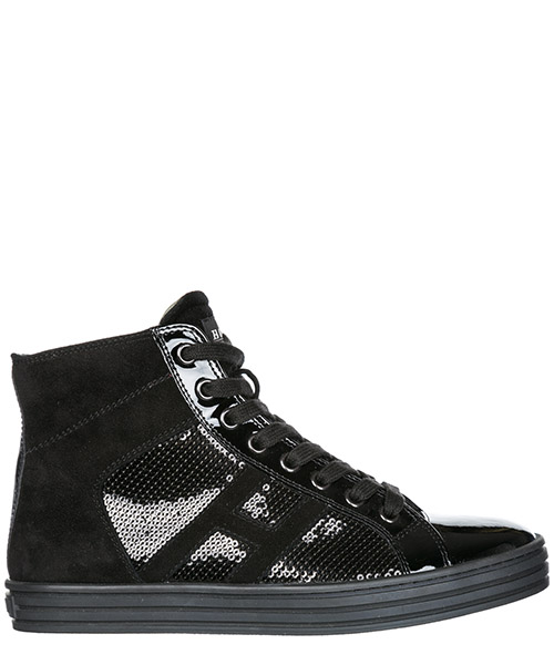 Sneakers alte Hogan Rebel R141 HXW1410801425QB999 nero