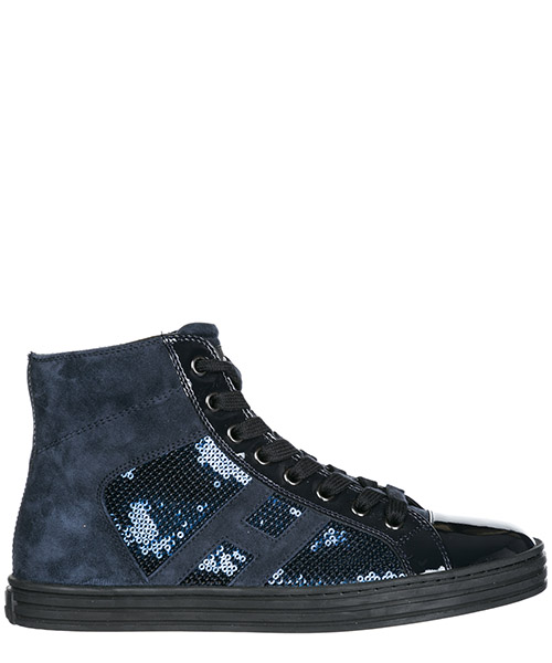 High top sneakers Hogan Rebel R141 HXW14108014J2KU810 blu denim scuro
