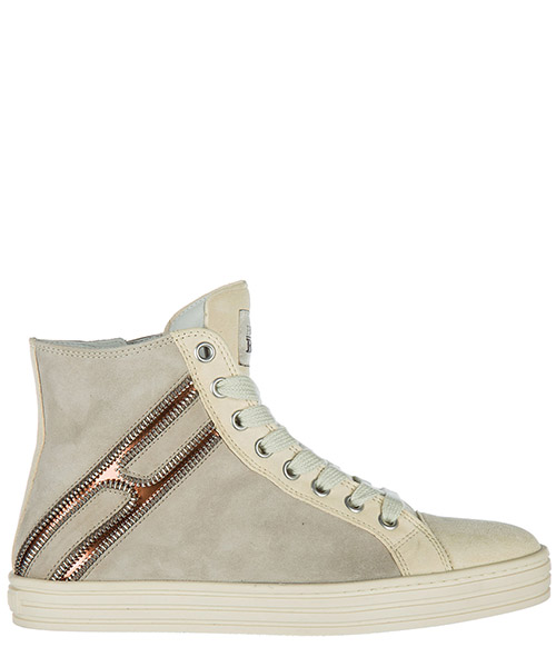 Zapatillas altas Hogan Rebel HXW1410H1601SG574L beige