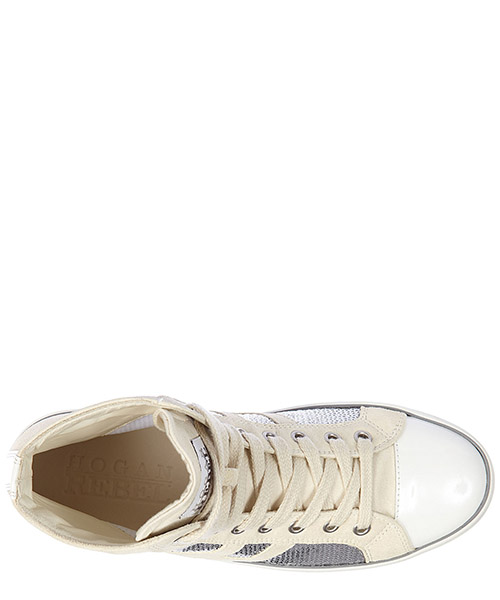 Scarpe sneakers alte donna in camoscio r141 rebel vintage secondary image