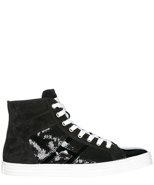 Sneakers alte Hogan Rebel R141 HXW1410P9906WBB999 nero
