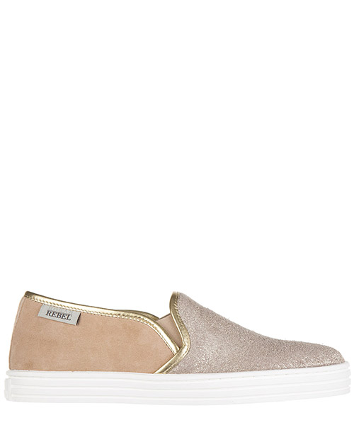 Scarpe slip on Hogan Rebel R141 HXW1410Q560BXG0T06 oro
