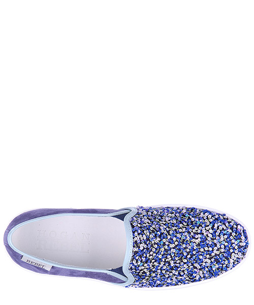 Women's suede slip on sneakers  paillettes secondary image