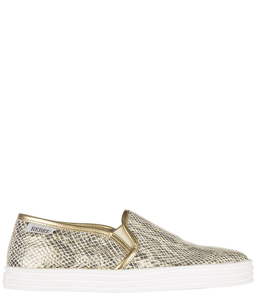 Scarpe slip on Hogan Rebel R141 HXW1410Q560BXU0ATH oro