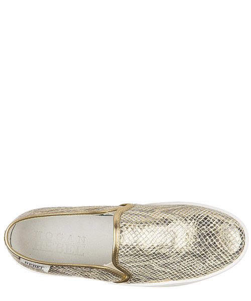 Slip on donna in pelle sneakers  r141 secondary image