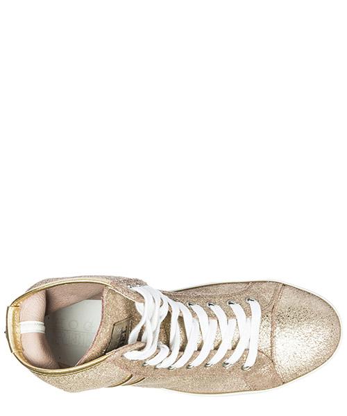Scarpe sneakers alte donna in pelle r182 secondary image