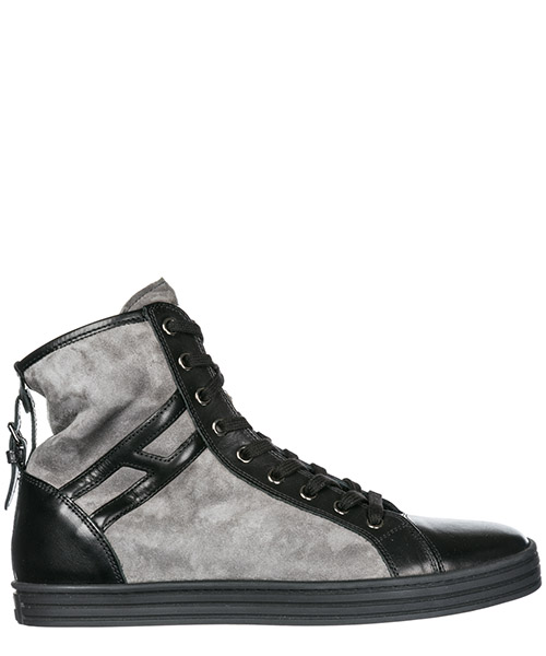 High top sneakers Hogan Rebel R182 HXW1820D6614YH210N nero piombo