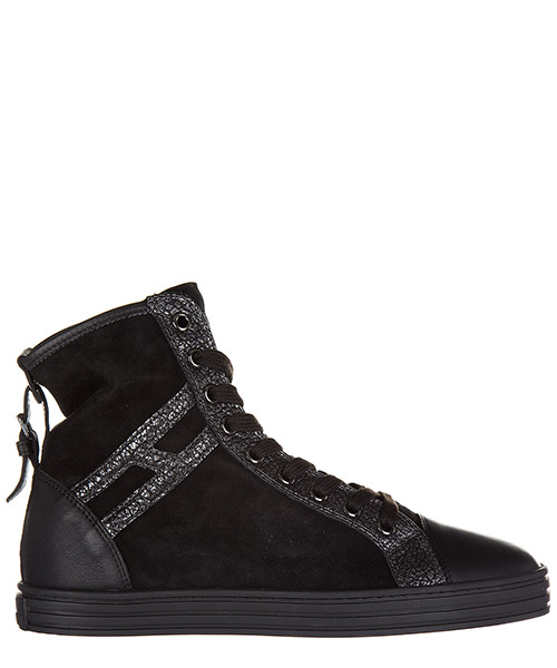 Sneakers alte Hogan Rebel R182 HXW1820D661EJA0039 nero