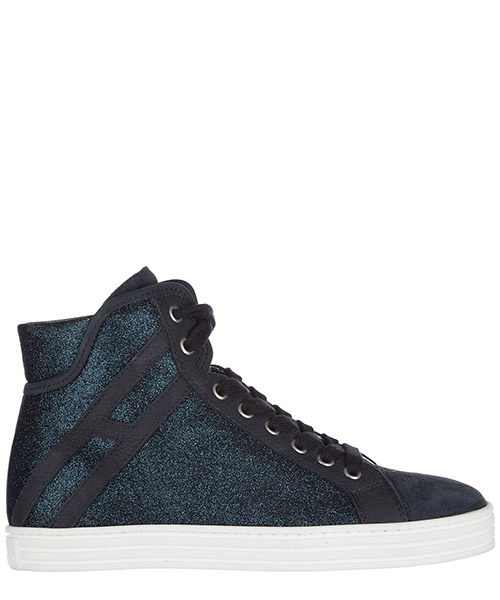 Sneakers alte Hogan Rebel HXW1820I650GAQU810 blu denim