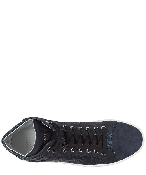 Chaussures baskets sneakers hautes femme en daim r182 secondary image