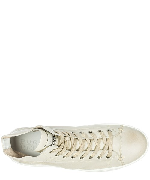 Scarpe sneakers alte donna in pelle r182 vintage secondary image