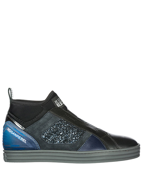 Scarpe slip on Hogan Rebel R182 HXW1820V990ELJ356P nero