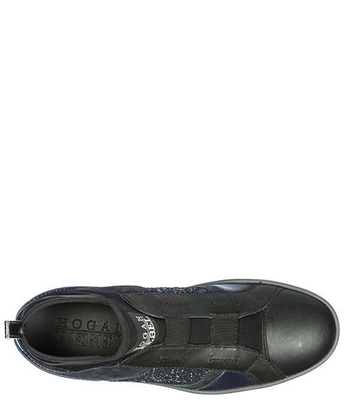 Slip on donna in pelle sneakers  r182 mid cut secondary image