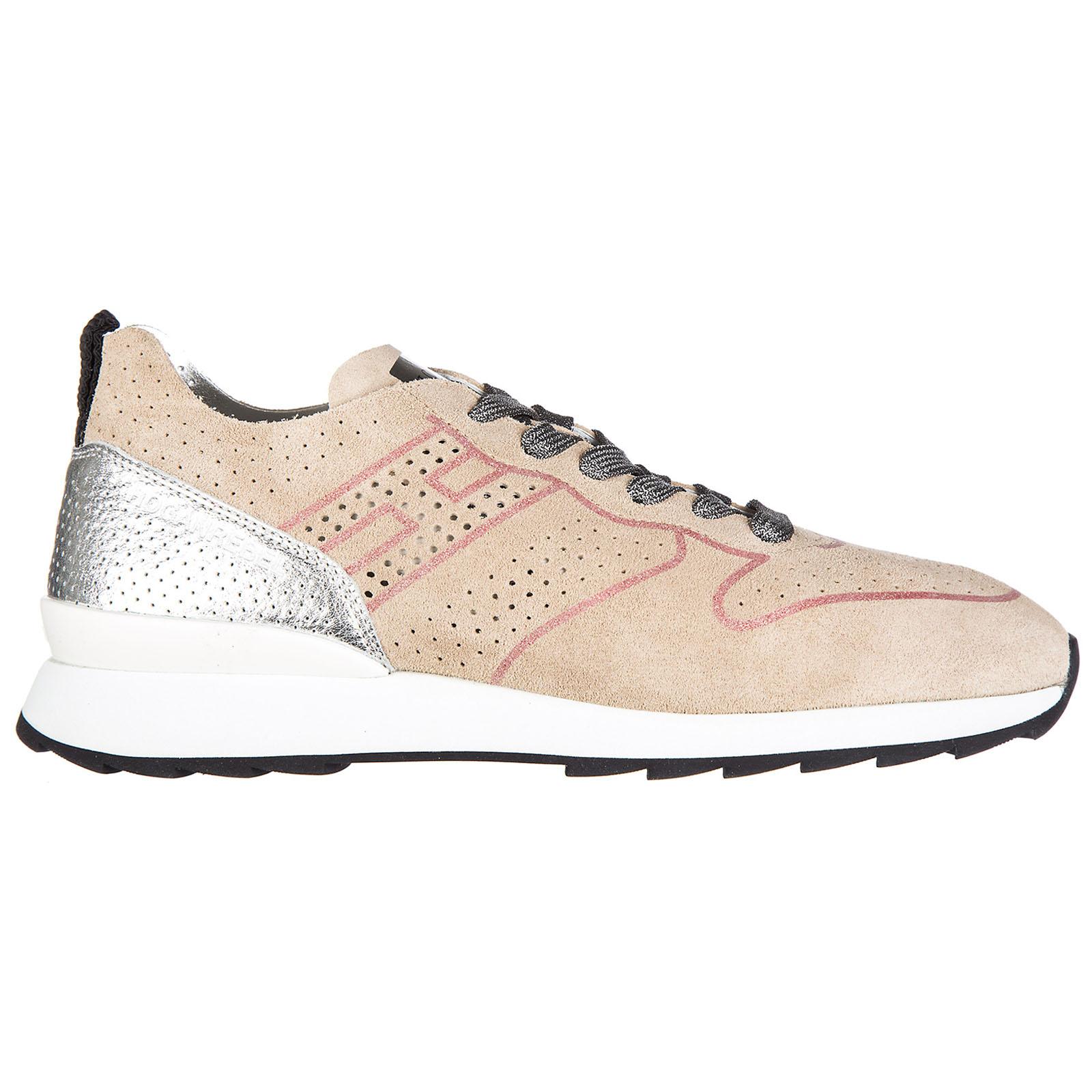 1734b9fb115 Chaussures baskets sneakers femme en daim r261 ...