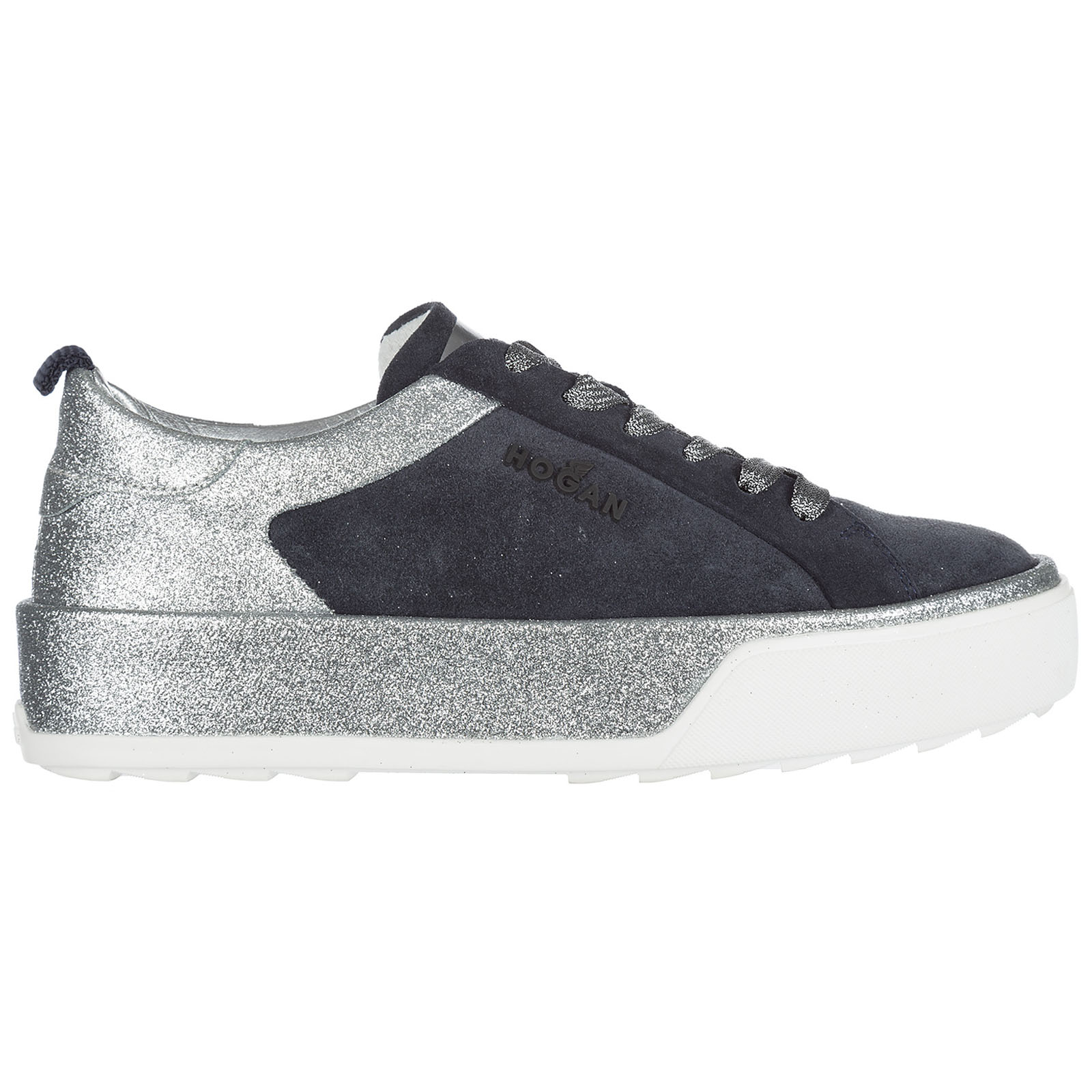 Sneakers con zeppa Hogan Rebel H320 HXW3200X630FXZ384O blu  ff9f20f34d6