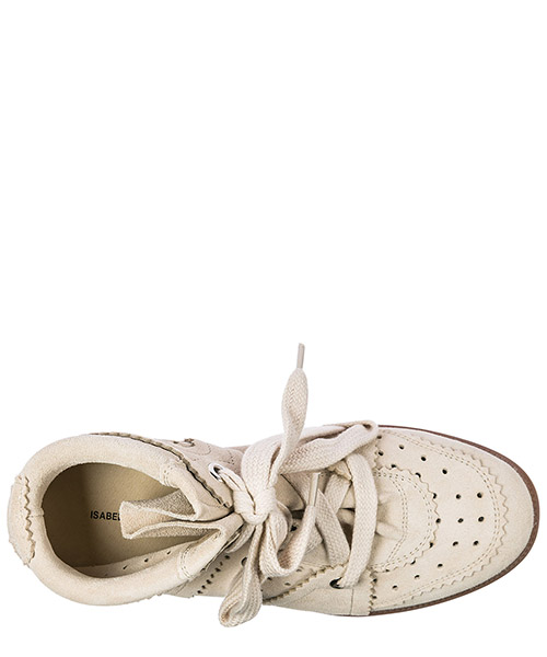 Chaussures baskets sneakers hautes femme en daim bobby secondary image